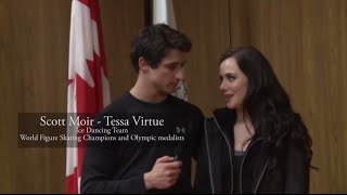 getlinkyoutube.com-Tessa Virtue & Scott Moir - Skate Canada Interview 2015 [HD]