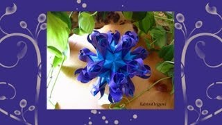 getlinkyoutube.com-Origami ❀ Sea Lilie ❀ Kusudama