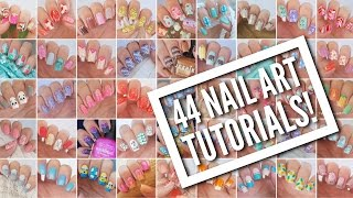 getlinkyoutube.com-44 Nail Art Tutorials! | Nail Art Design Compilation