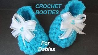 getlinkyoutube.com-CROCHET PATTERN, LITTLE BLUE BABY BOOTIES