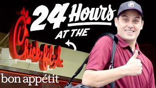getlinkyoutube.com-Working 24 Hours Straight at Chick-fil-A | Bon Appetit