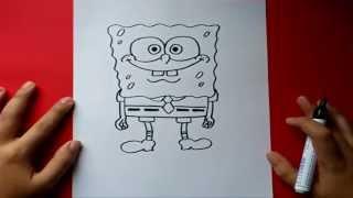 getlinkyoutube.com-Como dibujar a Bob esponja paso a paso - Bob esponja | How to draw Sponge bob - Sponge bob