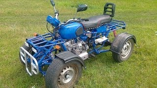 getlinkyoutube.com-Самодельный квадроцикл на базе мотоцикла Днепр и ВАЗ 2101 Homemade ATV based motorcycle Dnepr