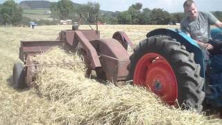 Fordson Super major powering a baler at the big Thrash 2010