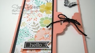 getlinkyoutube.com-Stampin Up Scalloped Tag Topper Punch Card