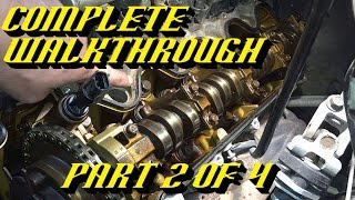 getlinkyoutube.com-Ford 5.4L 3v Engine Timing Chain Kit Replacement Pt 2 of 4: Front Cover & Valve Cover Removal