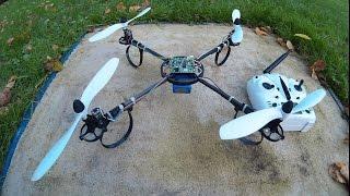 getlinkyoutube.com-Diy X6 Tarantula Quadcopter Flight Test