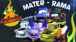 getlinkyoutube.com-Mater-Rama 5 Pack Halloween Dracula Mater CARS 2 Disney Pixar car toys 2012 Ivan Drag Star Mate