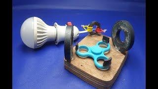 free energy light bulb using spinner width=