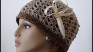 getlinkyoutube.com-Crochet Shell Beanie - How to Crochet Shell Beanie