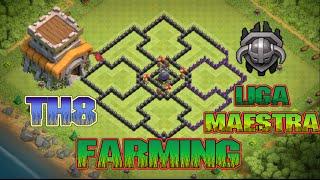 getlinkyoutube.com-DISEÑO AYUNTAMIENTO 8 FARMING | SUBIDA DE COPAS | DEFIENDE EL ELIXIR OSCURO |CLASH OF CLANS