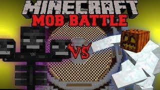 getlinkyoutube.com-Mutant Snow Golem Vs Wither - Minecraft Mob Battles - Mutant Creatures Mod