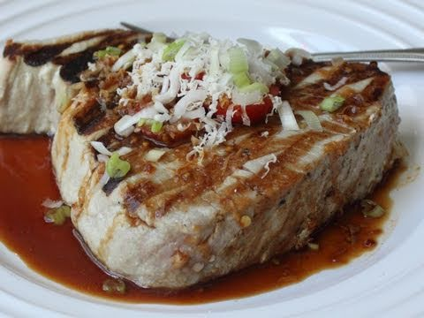Grilled Tuna with Fresh Horseradish Soy Sauce Recipe - Tuna with Grated Horseradish