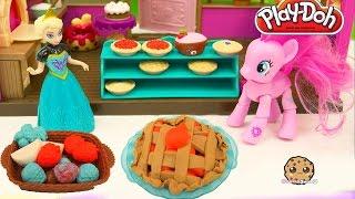 Playdoh Playful Pies Maker Playset with MLP Pinkie Pie and Frozen Queen Elsa - Cookieswirlc Video