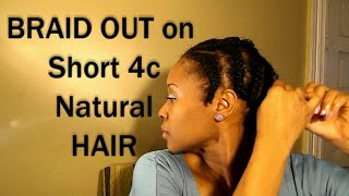 getlinkyoutube.com-4c Braid Out on Short Natural Hair RESULTS