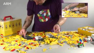 getlinkyoutube.com-How to build a LEGO Speedcuber in under 5 minutes using ARM Powered devices