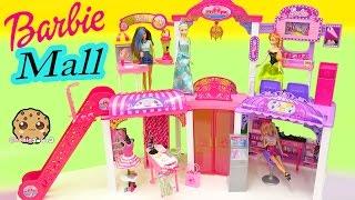 getlinkyoutube.com-Disney Queen Elsa & Princess Anna Shop at Barbie Malibu Mall Playset - Toy Video Cookieswirlc