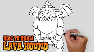 getlinkyoutube.com-How to Draw Lava Hound- Clash of Clans- Video Lesson