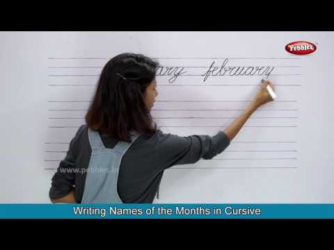 Days of the Week With Spellings | Names of the Months With Spellings | Cursive Handwriting Practice