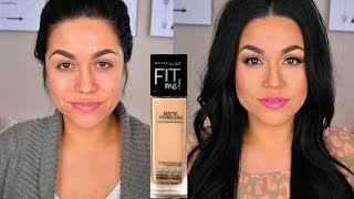 getlinkyoutube.com-Maybelline Fit Me Matte + Poreless Demo & Review!