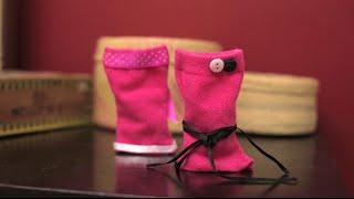 Vestidos de muñecas con calcetines | Cómo hacer vestidos para muñecas | @iMujerHogar