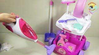 getlinkyoutube.com-Детский игровой набор для уборки / Children's play set for cleaning