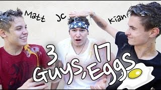 getlinkyoutube.com-3 Guys, 17 Eggs | Jc, Kian & Matt