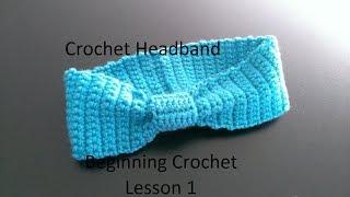 getlinkyoutube.com-Crochet Headband NO EXPERIENCE NECESSARY First Lesson