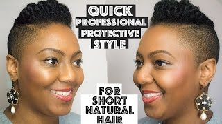 getlinkyoutube.com-No Weave Protective Style for Short or Tapered Natural Hair