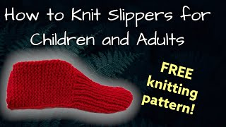 getlinkyoutube.com-How to Knit Slippers for Children and Adults