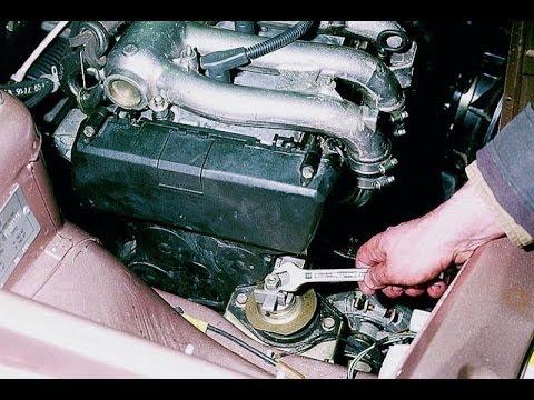 Правая опора двигателя. Снимаем. ВАЗ.