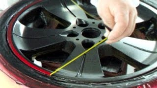 getlinkyoutube.com-How to Repair Your Car Wheels & Paint Rims / Candy Red & Black カスタムペイント・キャンディー塗装