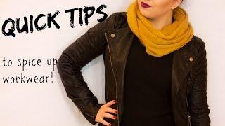 getlinkyoutube.com-Quick Tips to Spice Up Work Wear | Fashion Tips