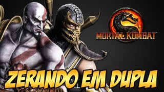 getlinkyoutube.com-Zerando em Dupla Kratos e Scorpion - Mortal Kombat 9