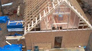 getlinkyoutube.com-Stick framing the gable.... what a long day, although short for the time worked....