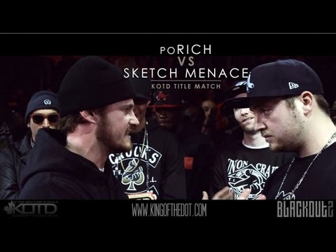 KOTD - Rap Battle - Sketch Menace vs poRICH (Title Match)
