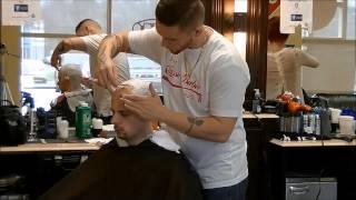 getlinkyoutube.com-Straight razor head shave with hot towel