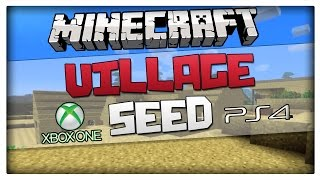 getlinkyoutube.com-Minecraft PS4 / Xbox One Seed - Village at spawn with 6 DIAMONDS! (For PS4 and Xbox One And PS Vita)