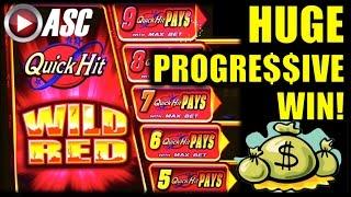 getlinkyoutube.com-*HUGE PROGRESSIVE WIN* QUICK HIT WILD RED  |  Bally - MAX BET Slot Machine Bonus & Jackpot!