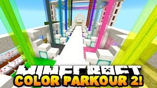 getlinkyoutube.com-Minecraft COLOR PARKOUR 2! (MAZE PARKOUR & MOVING PLATFORMS) w/PrestonPlayz & Kenny