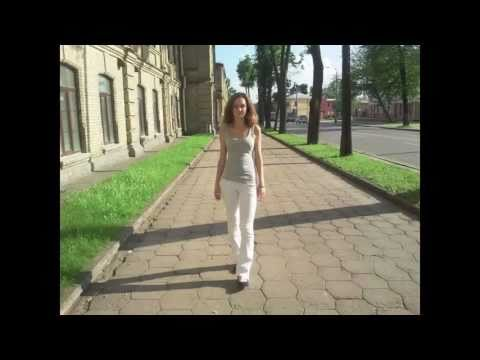 Girl walking through Grodno