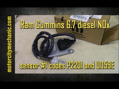 Ram Cummins 6.7 diesel NOx sensor #1 and codes P2201 and U059E