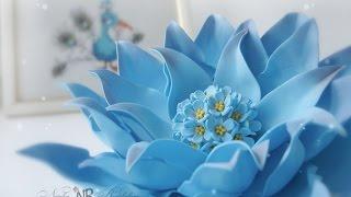 "getlinkyoutube.com-Мастер-класс ""Фантазийный цветок"" из фоамирана"