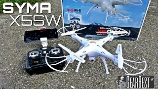 getlinkyoutube.com-Syma X5SW Quadcopter - [Unboxing & Review] - 6 Axis - 2.4GHz - WIFI - FPV - 2MP Camera