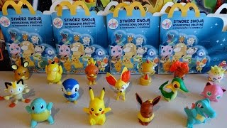 getlinkyoutube.com-NEW 2016 Pokémon Happy Meal McDonald's Figures & Holo Cards Series 2 + 1 in Europe Unboxing