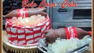 getlinkyoutube.com-Como Fazer Bolo no Formato de Coca-Cola