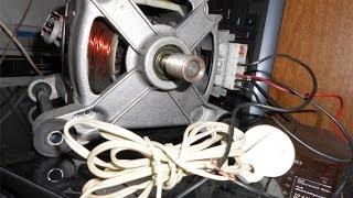 getlinkyoutube.com-Как подключить двигатель от стиральной машины к 220