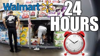 getlinkyoutube.com-24 HOUR WALMART CHALLENGE! (TOILET PAPER FORT)