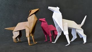 getlinkyoutube.com-Origami: Cachorro / Shepherd Dog