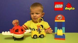 getlinkyoutube.com-Lego Duplo Аэропорт (10590) + Мультик из игрушек.
